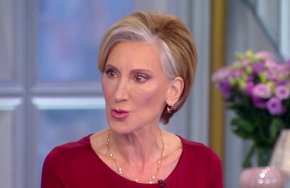 Former GOP presidential candidate Carly Fiorina brought a much-needed sense of calm to The View this morning. (Photo: ABC)