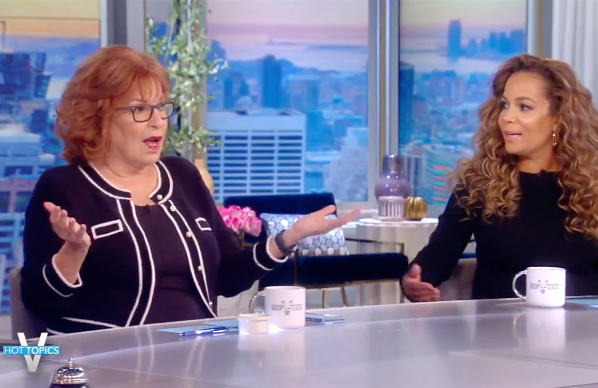 Joy Behar made an ill-advised crack about Katie Couric this morning on The View. (Photo: ABC)