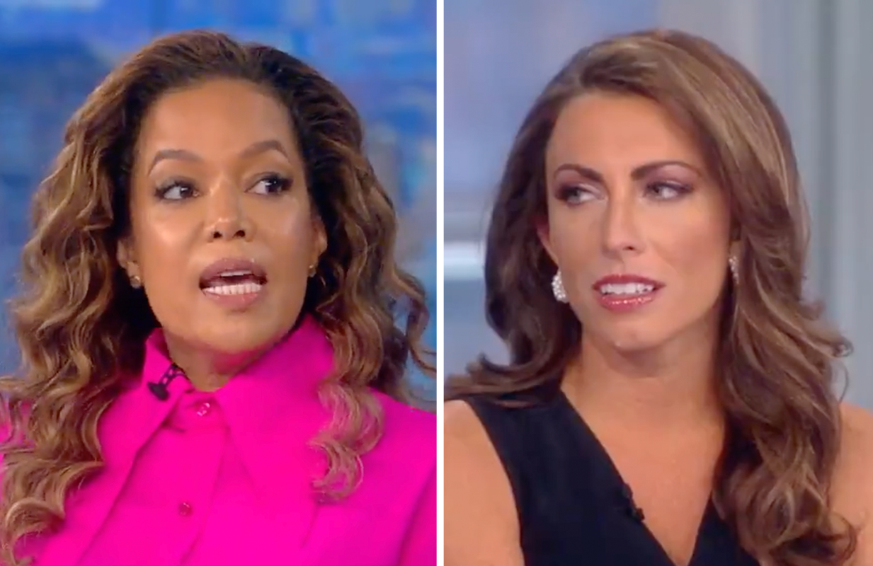 Sunny Hostin refused to let ex-Trump official Alyssa Farah off the hook in a contentious appearance on The View. (Photos: ABC)