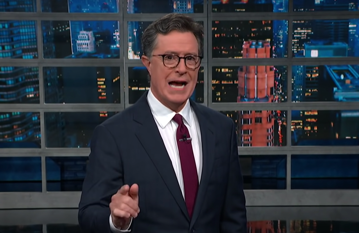 Stephen Colbert on The Late Show (Photo: CBS)
