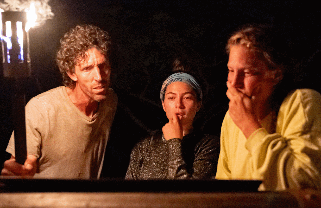 Brad Reese, Sydney Segal and Tiffany Seely in Wednesday night's Survivor. (Photo: Robert Voets/CBS)