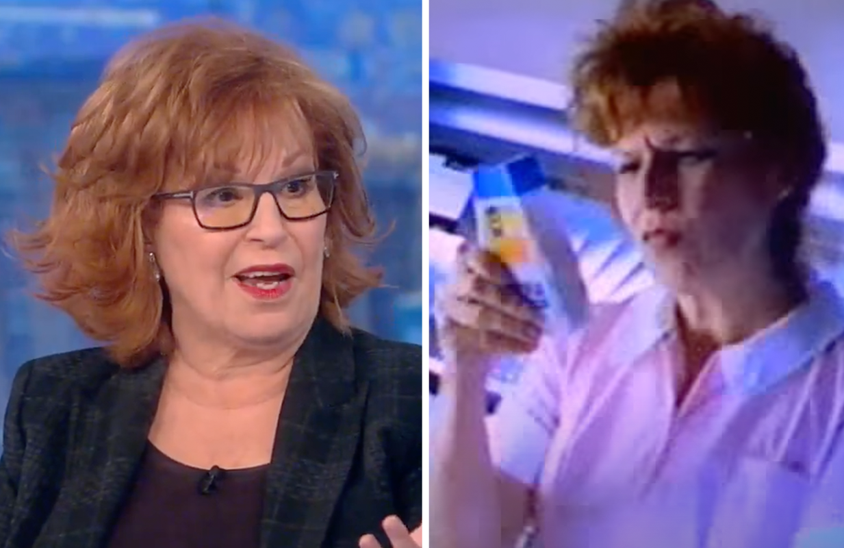Joy Behar relived her glory days as a TUMS commercial actress this morning on The View. (Photo: ABC)