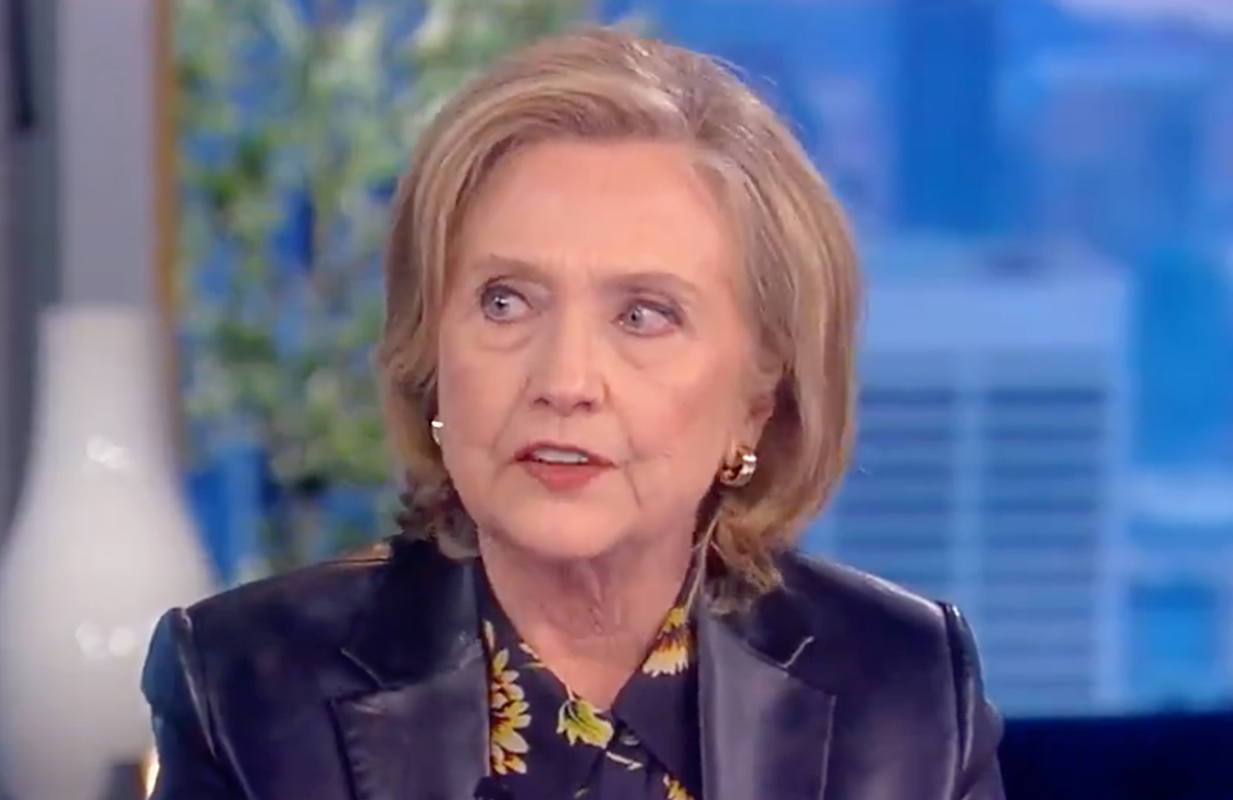 Hillary Clinton took aim at Trump in her first live appearance on The View since the 2020 election. (Photo: ABC)