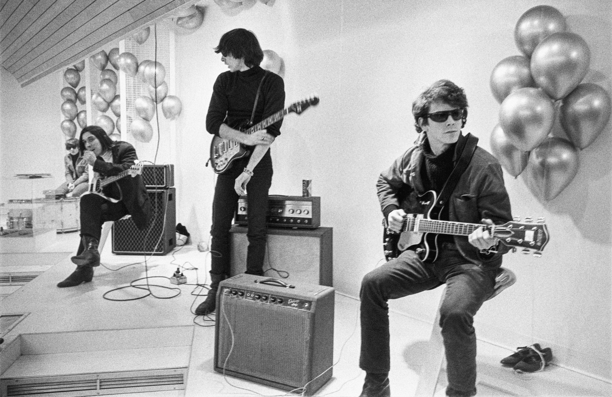 Moe Tucker, John Cale, Sterling Morrison and Lou Reed in an image from The Velvet Underground, premiering Friday on Apple TV+.