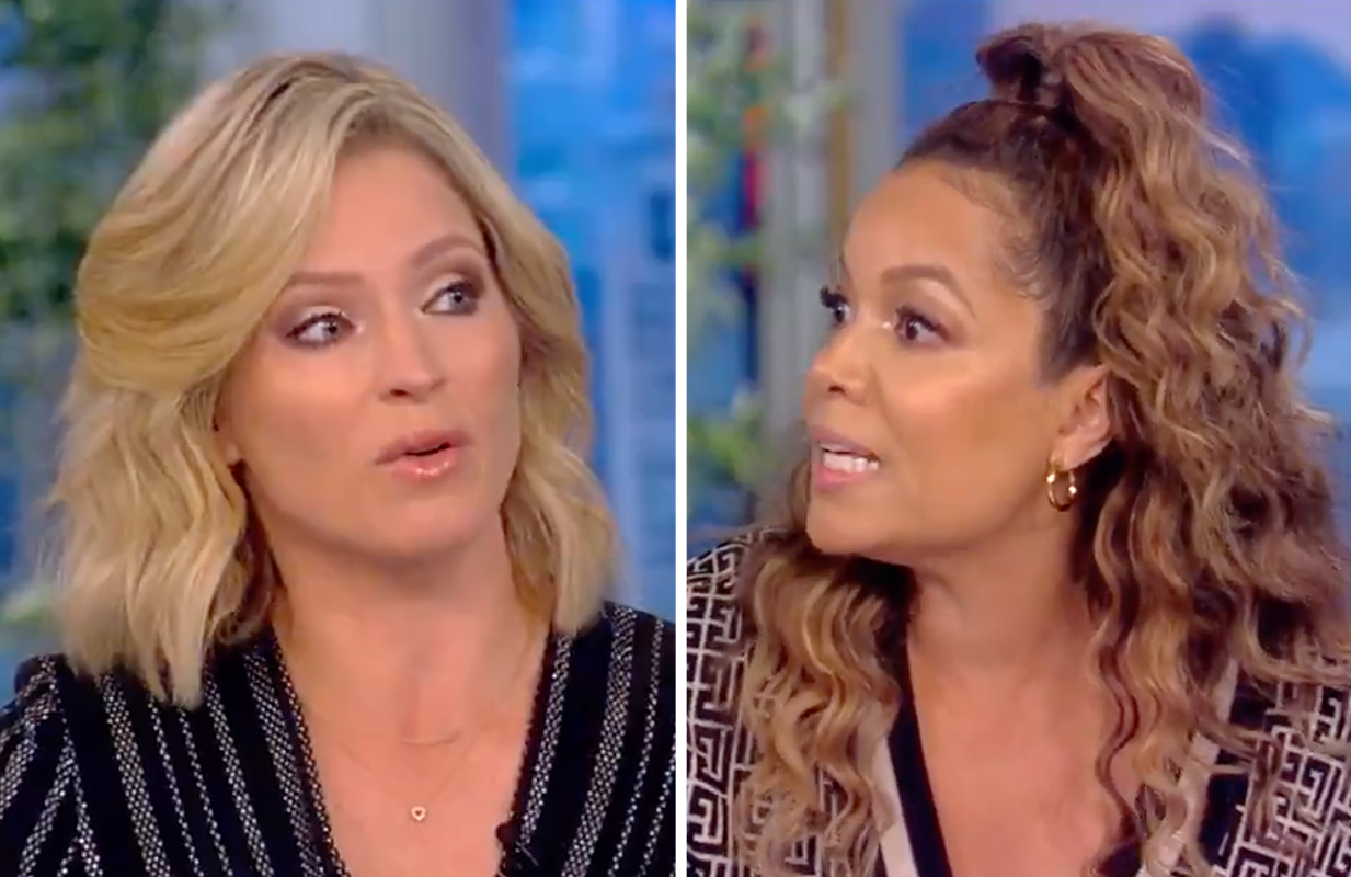 Sara Haines and Sunny Hostin squared off Tuesday morning on The View. (Photo: ABC)