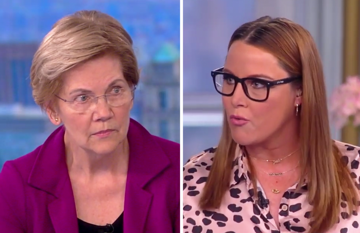 """S.E. Cupp grilled Elizabeth Warren about Democrats' plan to """"neutralize Trump"""" Wednesday on The View. (Photos: ABC)"""
