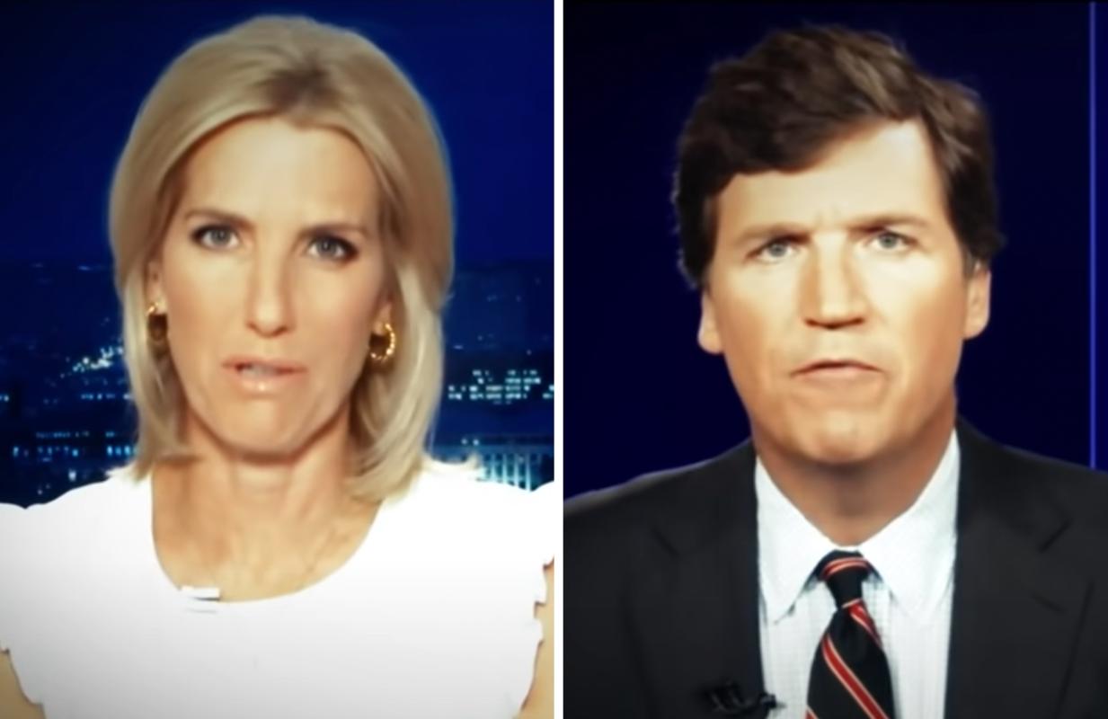Laura Ingraham and Tucker Carlson on Fox News (Photos: Fox News/Comedy Central)