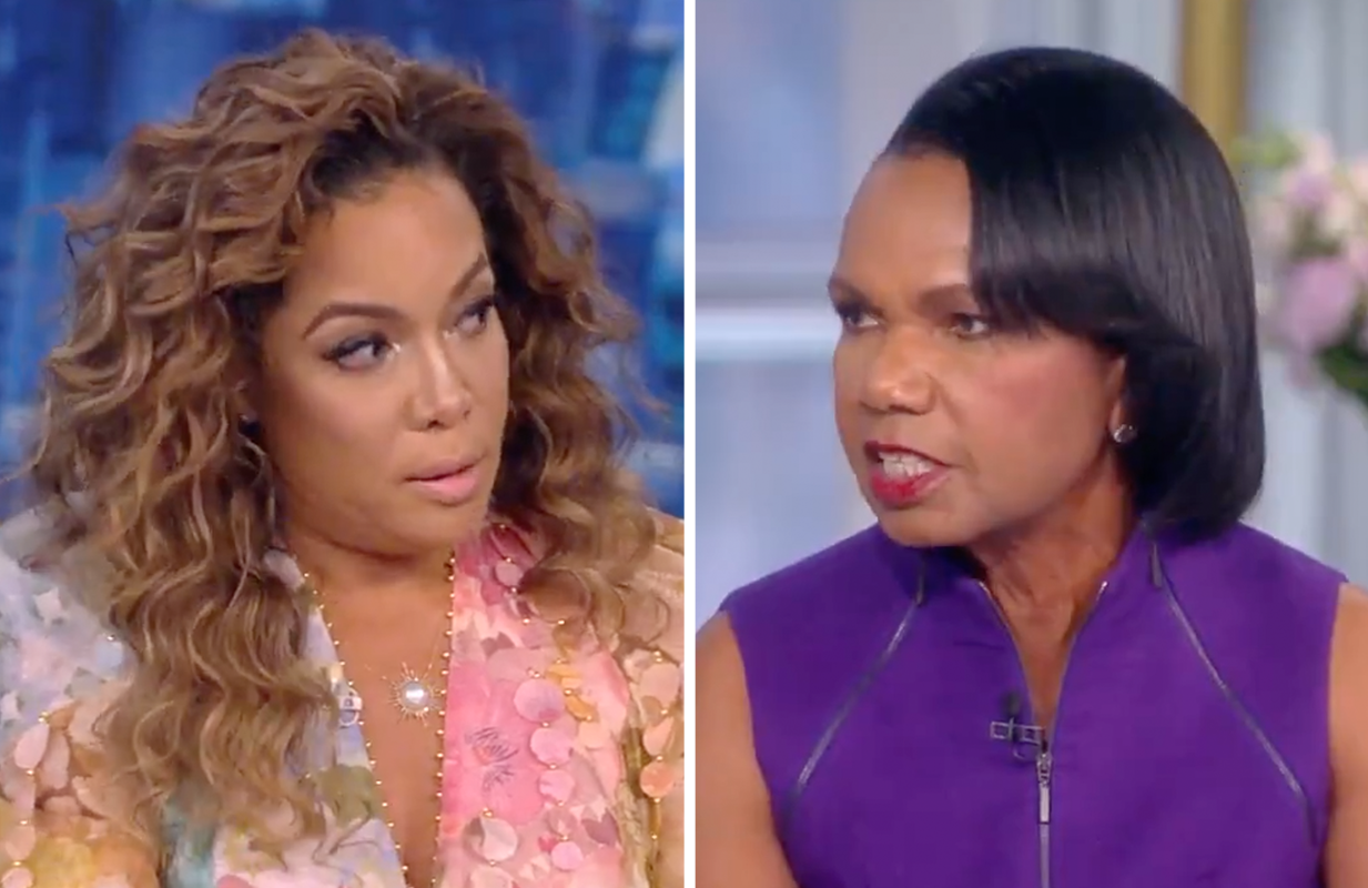 Sunny Hostin and Condoleezza Rice went head-to-head on Wednesday's episode of The View. (Photos: ABC)