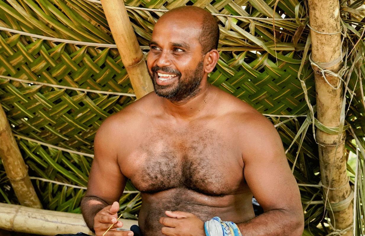 Survivor 41 snuck up from behind Wednesday night when it revealed that Naseer Muttalif had found the third Beware Advantage. (Photo: Robert Voets/CBS)