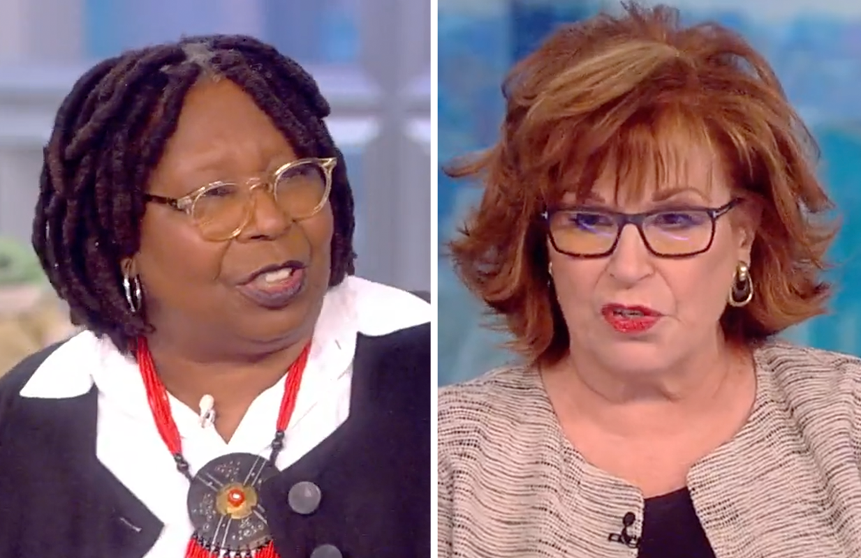 In a rare moment, Whoopi and Joy found themselves on opposite sides of an issue this morning. (Photos: ABC)