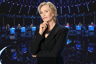 Jane Lynch hosts The Weakest Link. (NBC)