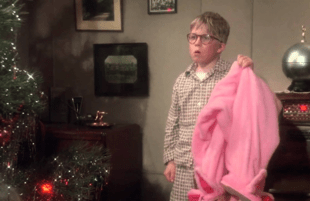 This is not the present Ralphie (Peter Billingsley) has been hoping for in A Christmas Story. (Warner Brothers)