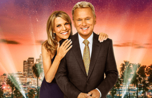 Vanna White and Pat Sajak host Celebrity Wheel of Fortune. (ABC)