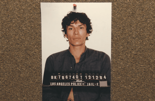 Richard Ramirez faces the camera in an image from Night Stalker: The Hunt for a Serial Killer. (Netflix)