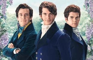 The Bridgerton Boys: Benedict (Luke Thompson),  Anthony (Jonathan Bailey), and Colin (Luke Newton). (Photo: Netflix)