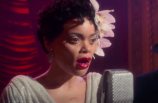 Andra Day stars in The United States vs. Billie Holiday. (Hulu)