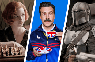 Queens Gambit, Ted Lasso and The Mandalorian. (Photos: Netflix, Apple TV+ and Disney+)
