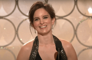 Tina Fey at The Golden Globe Awards (NBC)