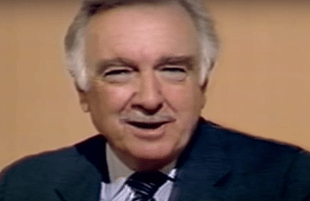 Walter Cronkite of CBS News