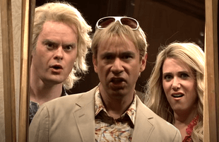 Bill Hader, Fred Armisen, Kristen Wiig on Saturday Night Live (NBC)