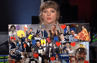 Taylor Swift on The Late Show with Stephen Colbert (CBS)
