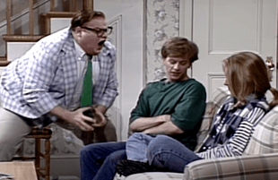 Chris Farley, David Spade, Christina Applegate on Saturday Night Live (NBC)