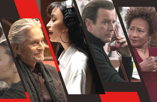 From left to right: The Kominsky Method, Selena: The Series, Halston and The Upshaws. (Photo: Netflix)
