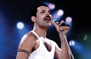 Freddie Mercury's legendary Live Aid performance was the kind of stuff that movies are made of. Oh, wait...