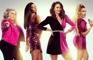 Paula Pell, Renée Elise Goldsberry, Sara Bareilles, Busy Philipps in Girls5eva. (Photo: Pari Dukovic/Peacock)