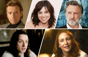 Top row: Ewan McGregor, Krysta Rodriguez, Bill Pullman; Bottom row: Rory Culkin, Vera Farmiga.