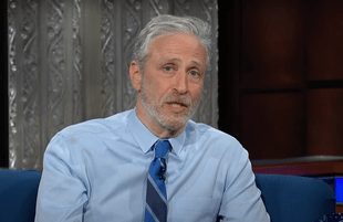 Jon Stewart ranted and raved about COVID-19 Monday on The Late Show. (Photo: CBS)