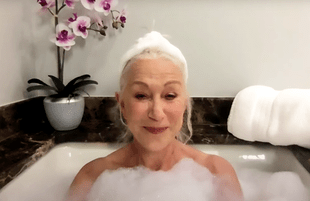 Helen Mirren was naked and (not so) afraid during a Thursday appearance on The Tonight Show. (Photo: NBC)