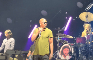 Dave Chappelle performs with the Foo Fighters at MSG on Sunday, June 20. (Photo: YouTube)