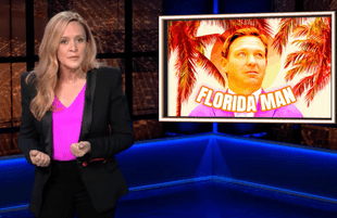 """Samantha Bee explained exactly why Ron DeSantis would be """"Trump 2.0"""" if elected president in 2024. (Photo: TBS)"""
