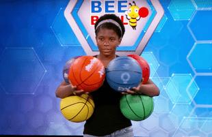 Zaila Avant-garde merged her spelling and basketball skills in Kimmel's Bee Ball game. (Photo: ABC)