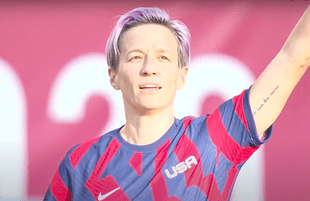 Megan Rapinoe after scoring an Olimpico in the Tokyo Olympics bronze medal game (Photo: NBC Sports)
