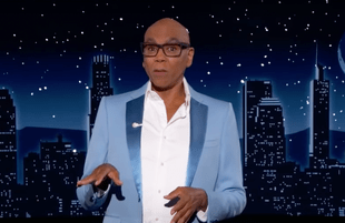 RuPaul Charles guest hosts Jimmy Kimmel Live! (Photo: ABC)