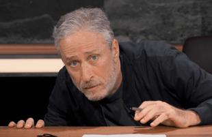 Jon Stewart ducks incoming fire in The Problem With Jon Stewart. (Photo: Apple TV+)