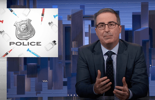 John Oliver discusses police refusing to comply with vaccine mandates (Photo: HBO)