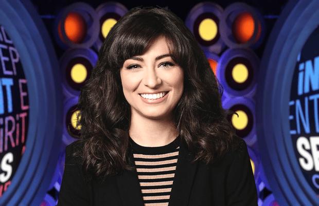 SNL's Melissa Villaseñor hosts this year's Film Independent Spirit Awards. (NBC/IFC)