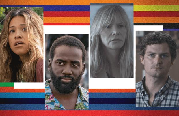 From left to right: Gina Rodriguez, Shamier Anderson, Jennifer Jason Leigh and Finn Jones in Awake. (Netflix)