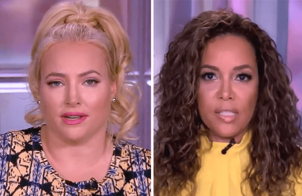 Even in a pre-taped episode, Meghan and Sunny clashed over AOC on The View. (Photos: ABC)