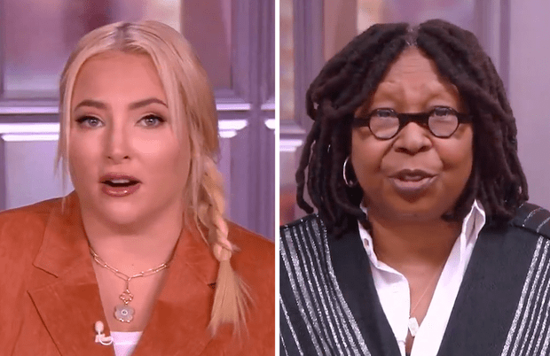 The women of The View had plenty to say about Tucker Carlson's viral confrontation on Monday morning. (Photos: ABC)