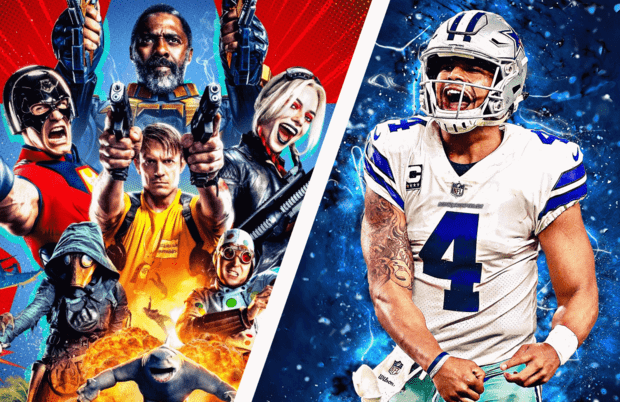 The Suicide Squad goes day at date in theaters and at HBO Max, while Dax Prescott and the Dallas Cowboys take on the Pittsburgh Steelers at the NFL Hall of Fame Game on FOX.