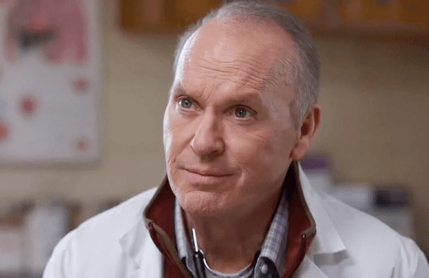 Michael Keaton plays kind-hearted country doctor Samuel Finnix, an unknowing accomplice to Purdue Parma in Dopesick. (Photo: Hulu)