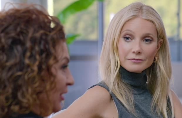 Gwyneth Paltrow role is that of interested observer in Sex, Love & Goop. (Photo: Netflix)